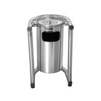 Okinox Metal Outdoor Dustbin. 304 Stainless Steel. Ground Mounted