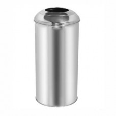 Okinox Metal Stainless Steel Round Cover Dustbin