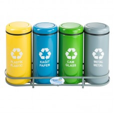 Okinox Recycling Dustbin. Rotating Cover, Painted. 901650