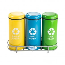 Okinox Recycling Dustbin. Rotating Cover, Painted.901651