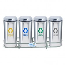 Okinox Recycling Dustbin Stainless Steel 901654 With Rotating Lid