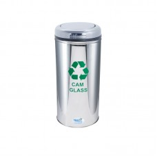 Okinox Recycling Dustbin Stainless Steel 901657 With Rotating Lid