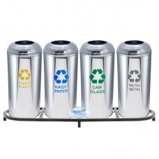 Okinox Recycling Dustbin. Metal Stainless Steel. 901662