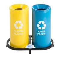 Okinox Recycling Dustbin Top Painted With Holes. 901668